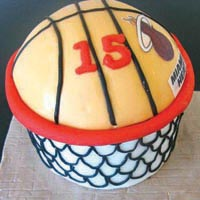 basketball birthday cake from grange bakery, grange over sands, cumbria