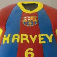 football shirt birthday cake from grange bakery, grange over sands, cumbria