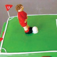 football birthday cake from grange bakery, grange over sands, cumbria