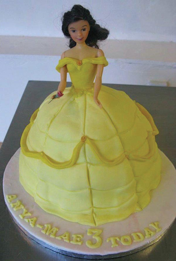 fairy tale princess children's cake from grange bakery in grange over sands, cumbria