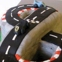 scalectric birthday cake from grange bakery, grange over sands, cumbria