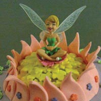 tinkerbell birthday cake from grange bakery, grange over sands, cumbria