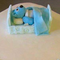 bear christening cake from grange bakery, grange over sands, cumbria