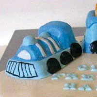 train christening cake from grange bakery, grange over sands, cumbria