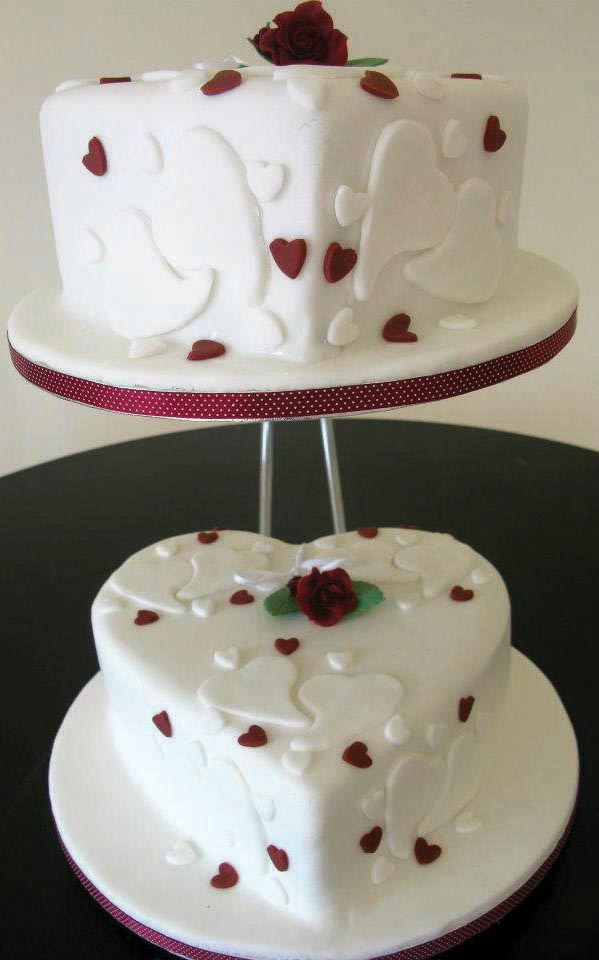 Hearts Wedding Cake from Grange Bakery