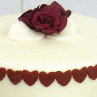 red rose wedding cake from grange bakery, grange over sands, cumbria
