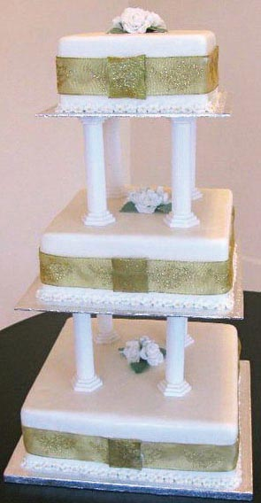 Tiered Wedding Cake from Grange Bakery